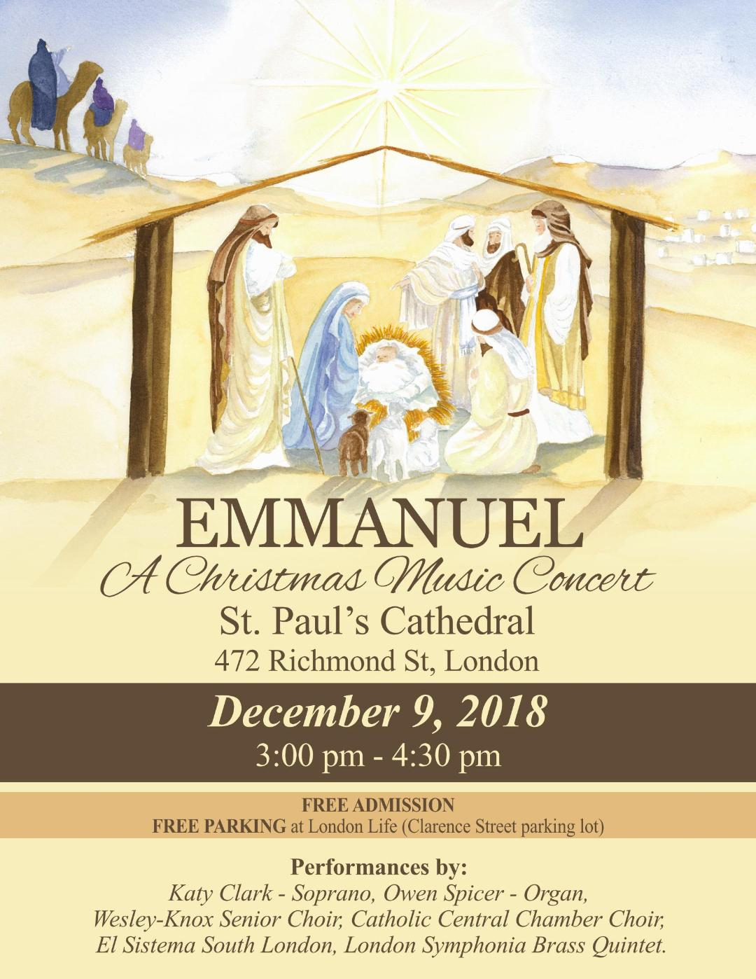 Emmanuel Concert at St. Paul's