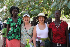 Rebecca and Bakhita, our two Wesley-Knox sponsored girls with Sheila and Maggie. Rebecca and Bakhita served as translators