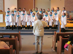 Junior Choir to Grace United, Sarnia