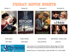 Friday Movie Nights! All welcome!