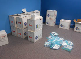 Meds for Sudan. Will they be allowed to cross the Canada-US border?