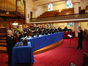 The Handbell Choir making a joyful noise!